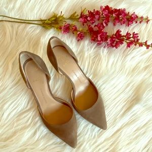 BANANA REPUBLIC Suede Pointed Toe High Heel